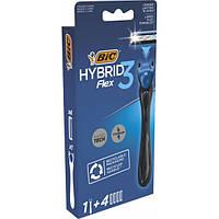 Станок для гоління чоловічий BIC Flex 3 Hibrid з 4 змінними картриджами