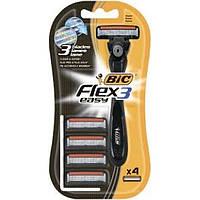 Бритва BIC Flex Easy з 4 змінними касетами