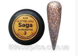 Гель SAGA Glitter Opal № 02