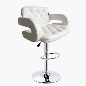 Барное кресло Винчи (BS-12335W), Белое, стул визажиста