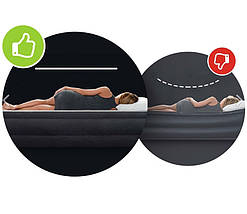 Надувная кровать Intex 64168 двуспальная 203х152х36 см с электро-насосом, фото 2