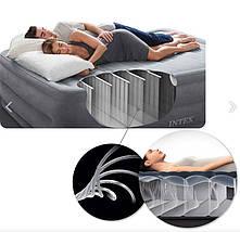 Надувная кровать Intex 64168 двуспальная 203х152х36 см с электро-насосом, фото 3