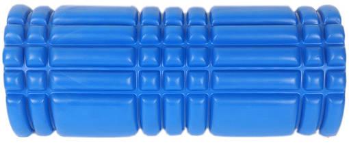 Массажный валик (MS 0857-3BL) Синий 33х14 см., фото 3