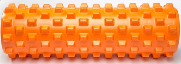 Массажный валик (MS 1843-1OR) / Оранжевый / 45х14 см. (шипы).