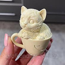 """Силіконовий Молд ЗД """"Кошеня в чашці"""""""