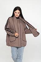Стильна демісезонна куртка з шарфом (Капучіно), фото 1
