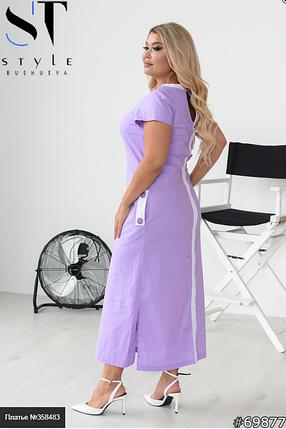 Супер стильне плаття з ефектною спинкою з льону Розміри: 48-50, 52-54, 56-58, фото 2