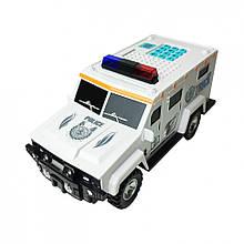 """Детский Сейф-копилка """"Машинка""""  DSM-6672 с кодовым замком (Белый)"""
