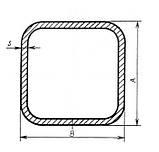 Труба нержавіюча квадратна 50х50х3, сталь 0, Довжина на 6, фото 3