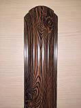 Штахетник металлические 105 мм Золотой дуб 3Д закругленными (евроштахетник под дерево), фото 3