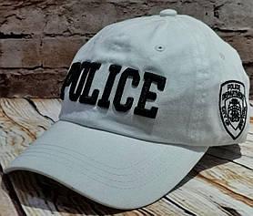 Жіноча чоловіча бейсболка кепка POLICE біла