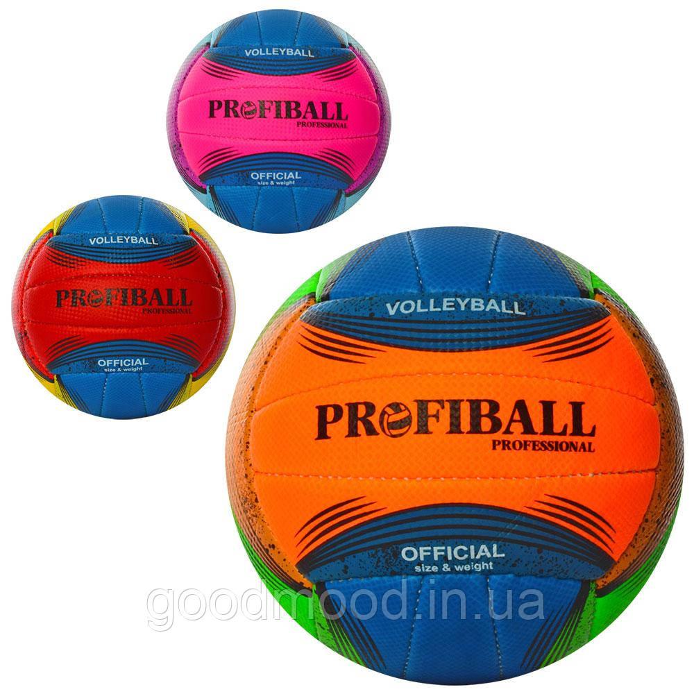 М'яч волейбольний 1163ABC офіц.розмір, ПУ, 2шари , ручна робота, 18панелей, 260-280г., 3кольори, кул