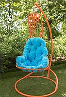 Подвесное кресло-кокон Дели со стойкой, до 120 кг (170 кг), 85*74*131 см, цвет на выбор + Гарантия