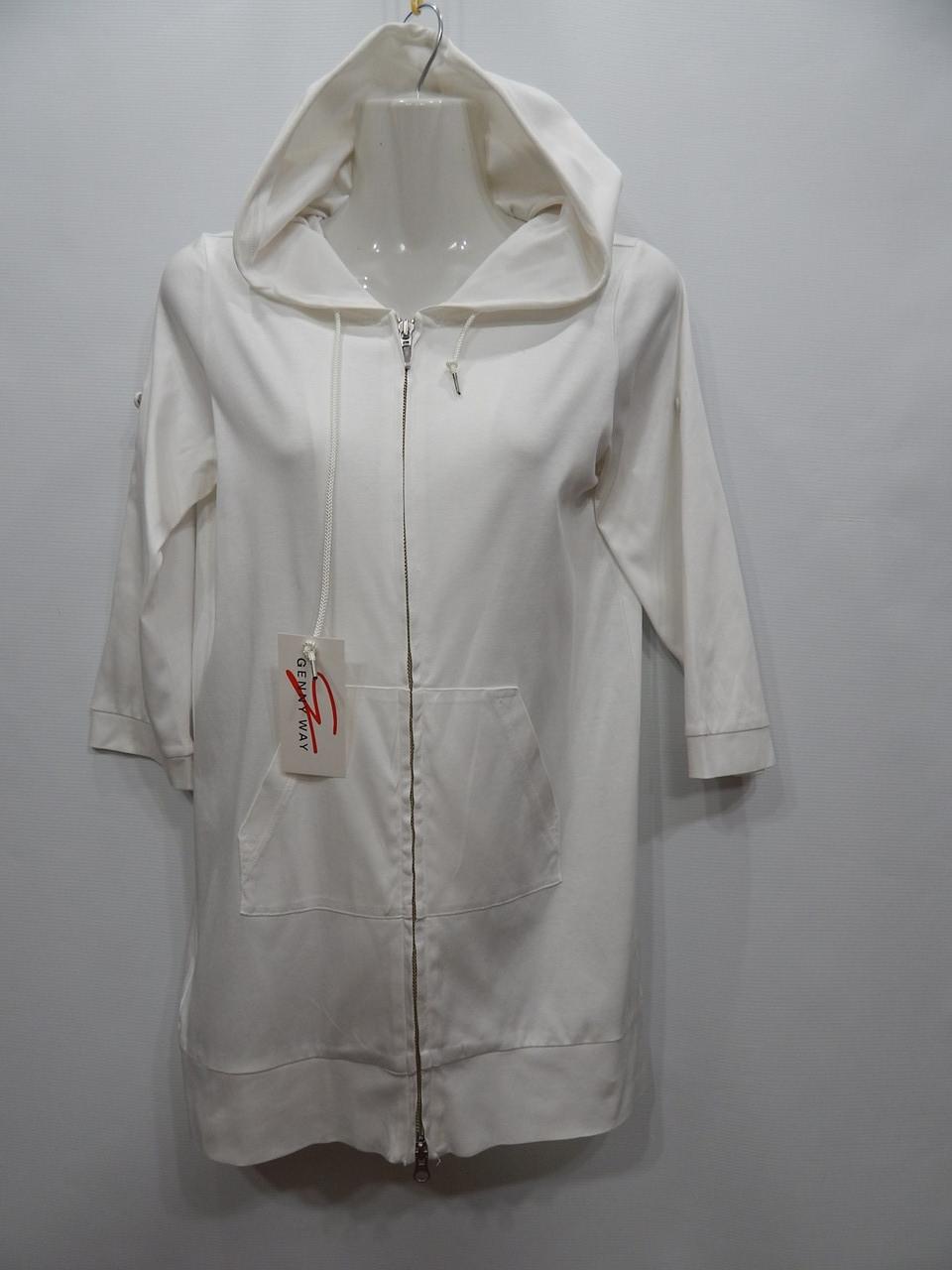 Толстовка - футболка удлиненная женская фирменная с капюшоном  UKR 40-42 р. 136PT