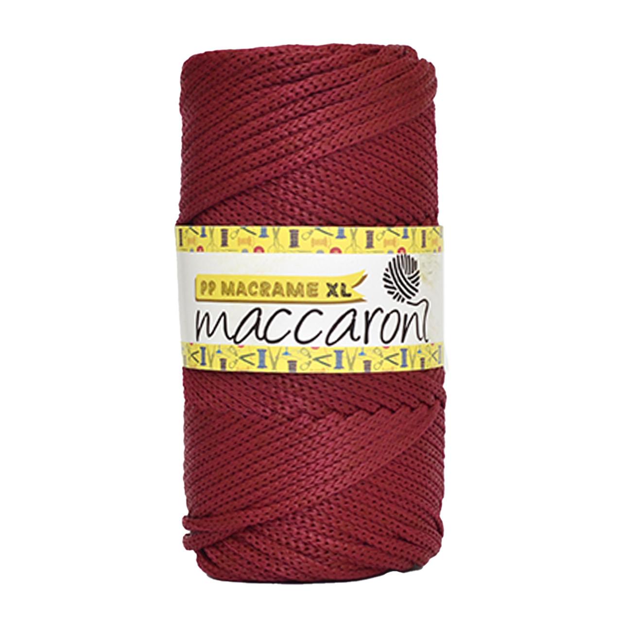 Шнур поліпропіленовий Maccaroni PP Macrame XL 4 mm Бордовий