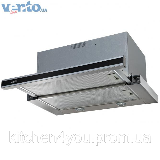 Ventolux Garda 50 X/BG (1000) EU вбудована, телескопічна кухонна витяжка, нержавіюча сталь / скло