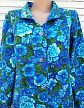 Теплый фланелевый халат 58 размер Синяя поляна, фото 10