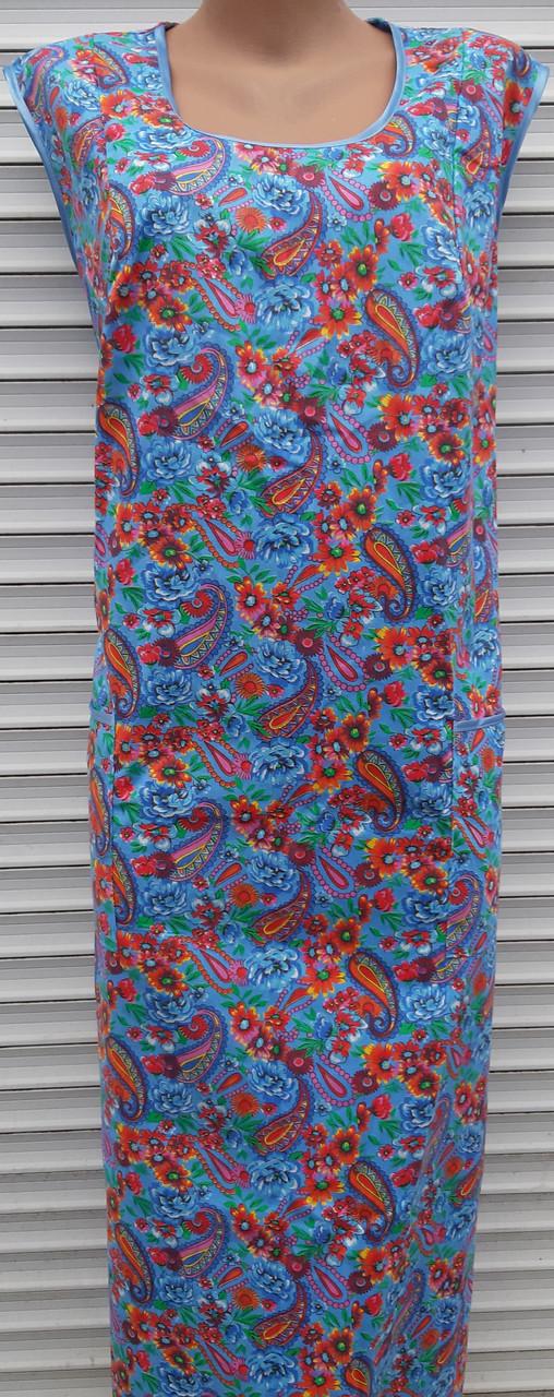 Платье без рукава 58 размер Огурцы