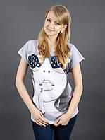 Женская футболка из хлопка с рисунком