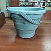 Відро 10 літрів туристичне складне Collapsible Bucket Бірюзовий
