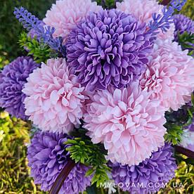 Букет из мыла ручной работы, букет хризантем, цветы в корзине