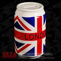 """Копилка """"Банка UK"""" с изображением английского флага керамическая"""