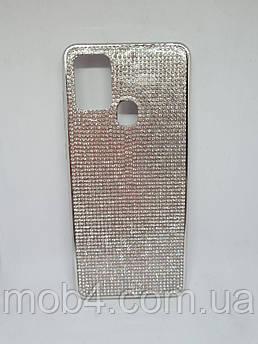 Силиконовый чехол накладка Камни Стразы для Samsung Galaxy A21s
