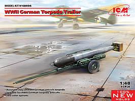 Німецький торпедний причіп часів Другої світової війни. Збірна модель в масштабі 1/48. ICM 48404