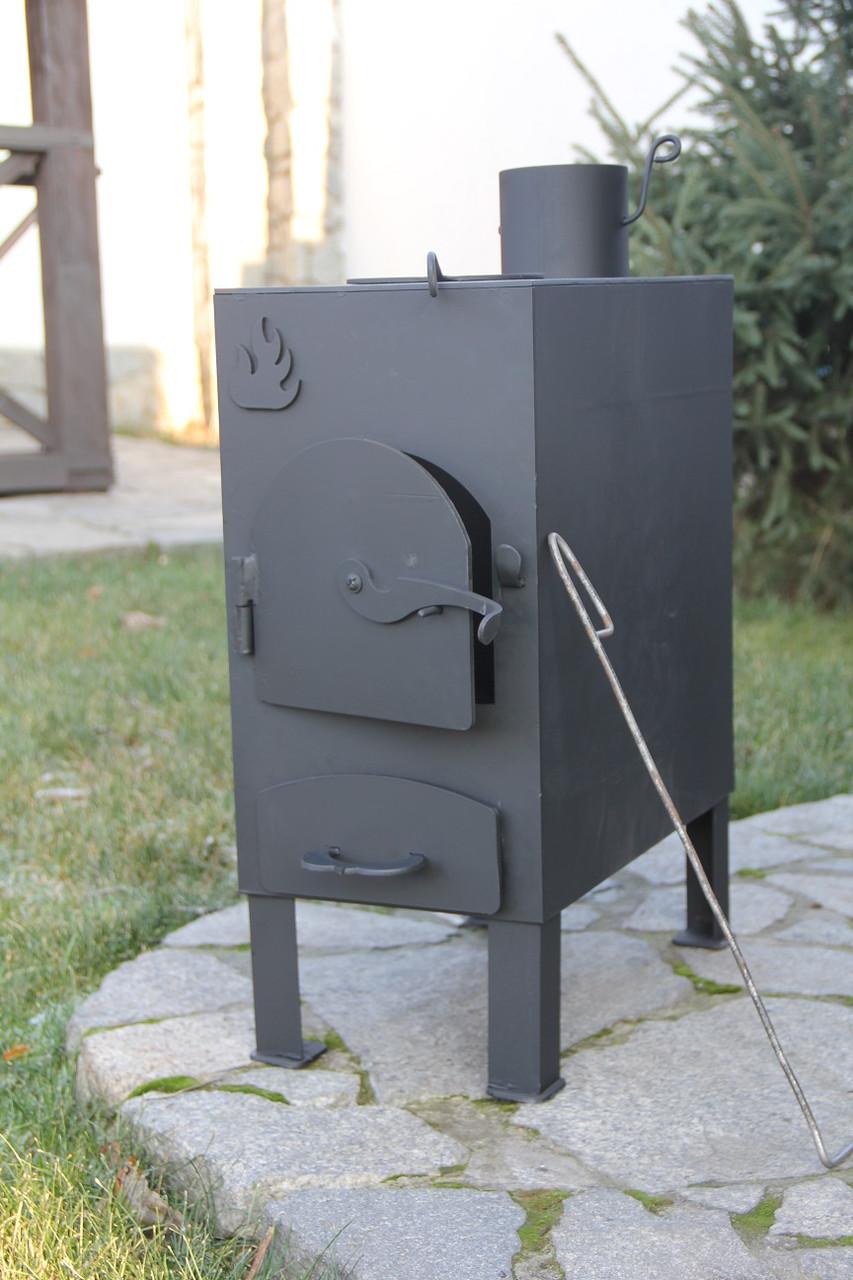 """Печь на дровах """"Огонь"""" с варочной поверхностью (печь дровяная), сталь 4мм"""
