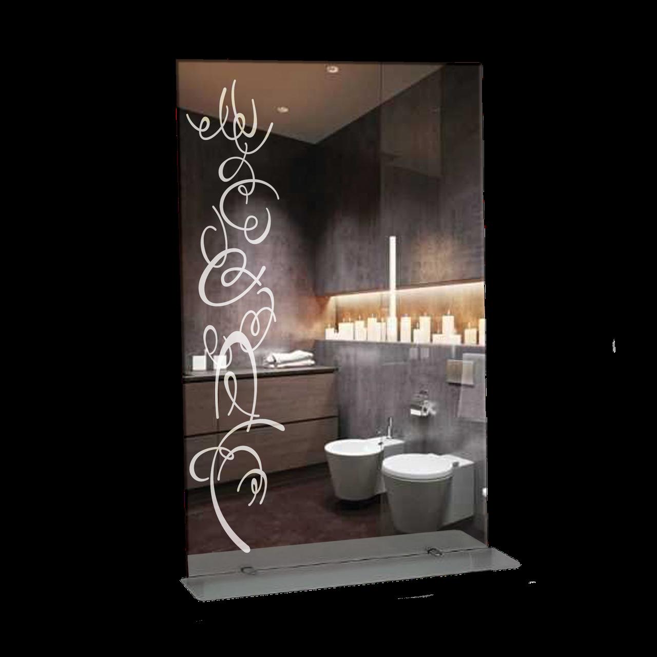 Зеркало для ванной комнаты 500х800 Ф356