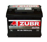 Автомобильный аккумулятор ZUBR ULTRA 6 СТ-60 (евро) 500А