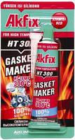 Термостойкий силиконовый герметик (50мл) Akfix HT300  ( черный)