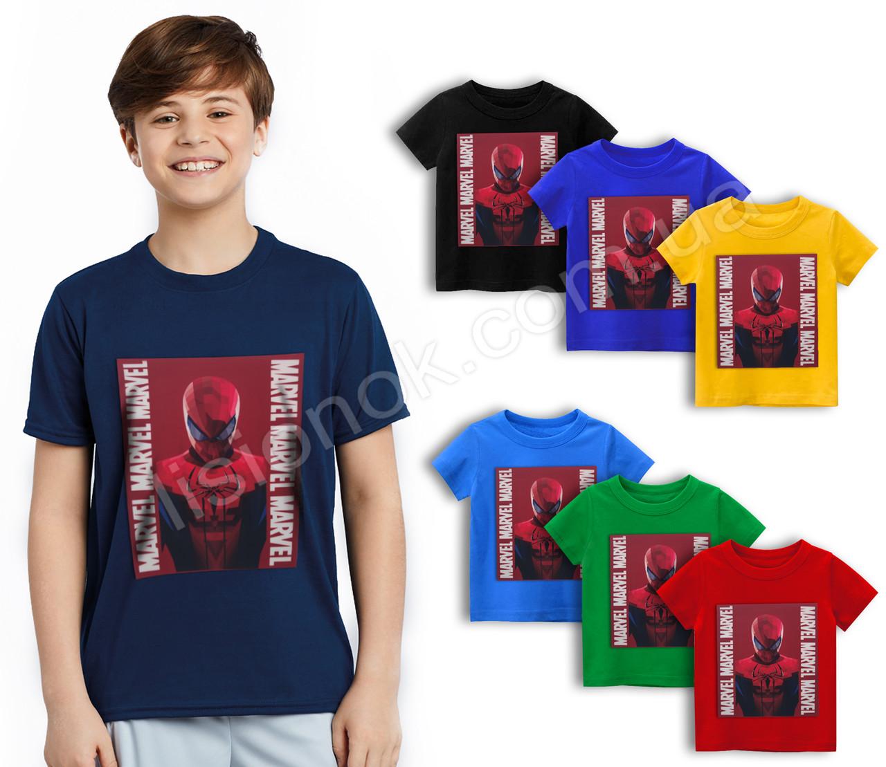 Футболка Людина павук на темно-червоному, Marvel 110-152см, для дітей та підлітків фанатів супер-героїв