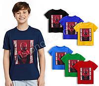 Футболка Людина павук на темно-червоному, Marvel 110-152см, для дітей та підлітків фанатів супер-героїв, фото 1