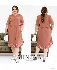 Оригинальное платье миди необычного кроя большого размера 52-54, 56-58, 60-62