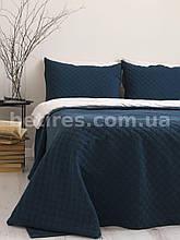 Покрывало с наволочками 180x240 LIMASSO CAMBRIDGE DRESS BLUE тёмно-синие