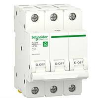 Автоматический выключатель RESI9 6kA 3р 20A C Schneider Electric