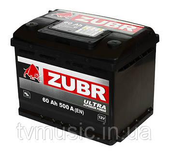 Автомобильный аккумулятор ZUBR ULTRA 6 СТ-60 (стандарт) 500А