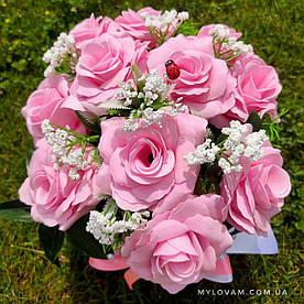 Букет з мила ручної роботи, мильний букет камелій,  композиція квітів з мила, нев'янучі квіти