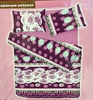 Постельное белье Viluta РАНФОРС полуторное  Розовая Флоренция, фото 1