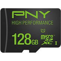 Карта памяти PNY Technologies 128GB UHS-I microSDXC  (U1, Class 10)