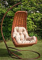 Подвесное кресло-кокон Багама со стойкой, до 120 кг (170 кг), 80*73*126 см, цвет на выбор + Гарантия