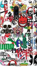 "Чехол на Meizu 16 Plus Many different logos ""4022c-1566-2448"""