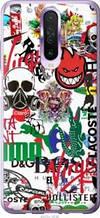 "Чехол на Redmi K30 Many different logos ""4022u-1836-2448"""