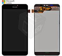 Дисплейный модуль (дисплей + сенсор) для Microsoft (Nokia) Lumia 640 XL Dual SIM, черный, оригинал