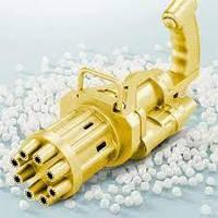 Пулемет генератор мыльных пузырей BUBBLE GUN BLASTER машинка для пузырей автомат Золото