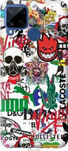 "Чехол на Realme C15 Many different logos ""4022u-2063-2448"""
