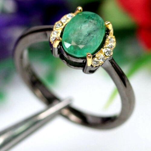 Серебряное кольцо с изумрудом, 2754КЦИ