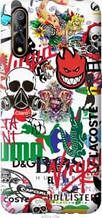 "Чехол на Vivo V17 Neo Many different logos ""4022u-1764-2448"""
