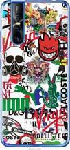 "Чехол на Vivo V15 pro Many different logos ""4022u-1763-2448"""